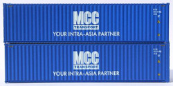 Jacksonville Terminal Company N 405115 40' High Cube Corrugated Side Containers MCC 2 pack