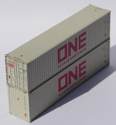 Jacksonville Terminal Company N 405166 40' High Cube Corrugated Side Containers ONE gray 2 pack