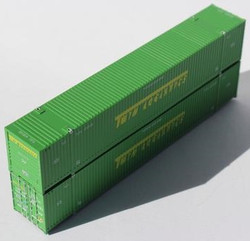 Jacksonville Terminal Company N 537013 53' High Cube Corrugated Side Containers TWIN LOGISTICS 2 pack