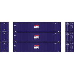 Athearn RTR HO ATH27034 45' Container APL 3-pack