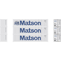 Athearn RTR HO ATH27160 40' Low Cube Container MATSON 3-pack