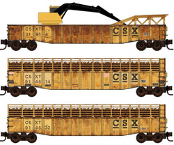 Micro Trains Line N 993 02 100 Tie Loader Weathered CSX 3-pack