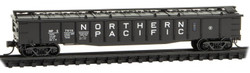 Micro Trains Line N 106 00 140 50' Steel Side, 14 Panel, Fixed End Gondola, Low Cover Northern Pacific #57515