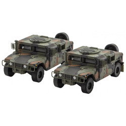 Micro Trains Line N 499 45 954 Humvee Vehicle - 2 Pack - Woodland Camo