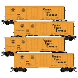 Micro Trains Line N 993 00 175 40' Steel Ice Reefer Pacific Fruit Express PFE - 4 pack