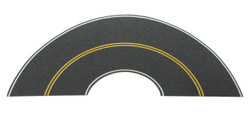 Walthers SceneMaster HO 949-1253 Flexible Self-Adhesive Paved Roadway - Vintage/Modern Curves - Solid Double Yellow Centerline with White Edge Marks