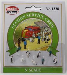 Model Power N 1338 Station Service Crew - 9 Pcs