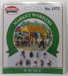 Model Power N 1372 Market Workers - 9 Pcs