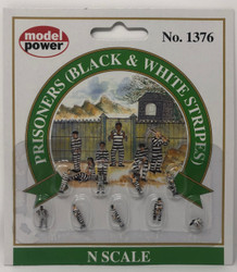 Model Power N 1376 Prisoners Black & White Stripes - 9 Pcs