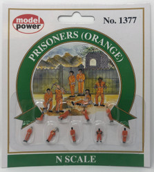 Model Power N 1377 Prisoners Orange - 9 Pcs