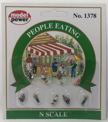 Model Power N 1378 People Eating - 9 Pcs