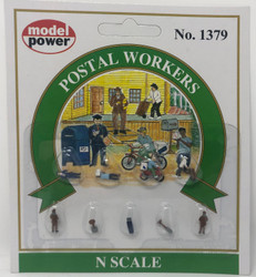 Model Power N 1379 Postal Workers - 9 Pcs