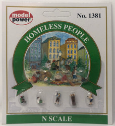 Model Power N 1381 Homeless People - 9 Pcs