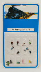 Bachmann N 52-7002 Assorted Figures Set #2 - 12 Pcs