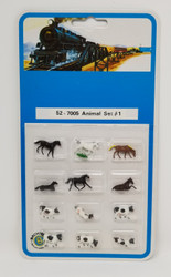 Bachmann N 52-7005 Assorted Animals Set #1 - 12 Pcs
