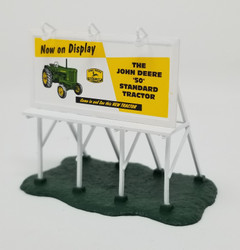 Athearn N 10406 John Deere 'Now on Display' Billboard - White Frame