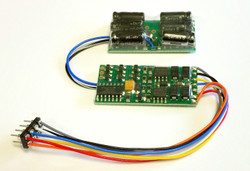 NCE DCC 5240147 D13NHP HO Decoder 1.3 Amp 4 function 8 pin NMRA plug with small no halt module installed