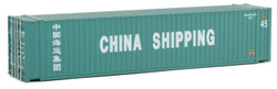 Walthers SceneMaster HO 949-8552 45' CIMC Container CHINA SHIPPING 1 Pc