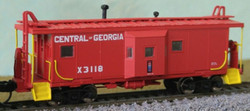 Bluford Shops N 41040 ICC Phase 1 Bay Window Caboose Central Of Georgia #X3118