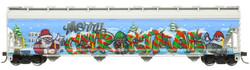 Atlas Master HO 20006330 ACF 5800 Cu Ft Centerflow Plastics 3-Bay Covered Hopper 'Christmas Graffiti' DOWX #66122