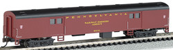 Bachmann Silver Series N 14451 72' Smooth Side Baggage Pennsylvania #9830