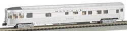Bachmann Silver Series N 14551 85' Streamline Fluted Observation with Lighted Interior Santa Fe 'Navajo'