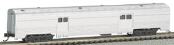 Bachmann Silver Series N 14654 72' Streamline Fluted 2-Door Baggage Unlettered Aluminum