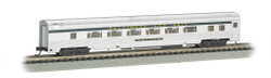 Bachmann Silver Series N 14753 85' Streamline Fluted Coach with Lighted Interior B&O 'Oriole'
