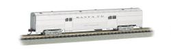 Bachmann Silver Series N 14651 72' Streamline Fluted 2-Door Baggage Santa Fe