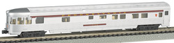 Bachmann Silver Series N 14552 85' Streamline Fluted Observation with Lighted Interior Pennsylvania #7129