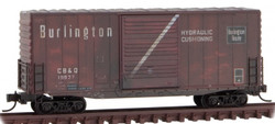 Micro Trains Line N 101 44 140 40' Hy Cube Box Car Weathered Chicago, Burlington & Quincy #19837