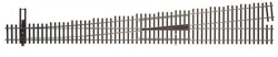 WalthersTrack HO 948-83021 Code 83 Nickel Silver DCC Friendly Number 10 Turnout - Left Hand