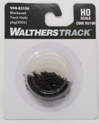 WalthersTrack HO 948-83106 Blackened Track Nails for Code 83 or Code 100 Track - 300 Pkg