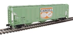 Walthers Mainline HO 910-7455 50' Pullman-Standard PS-2 CD 4427 3-Bay Covered Hopper Cargill Logo Panel TLDX #2512