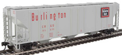 Walthers Mainline HO 910-7463 50' Pullman-Standard PS-2 CD 4427 3-Bay Covered Hopper Chicago, Burlington & Quincy CB&Q #85520