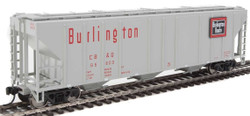 Walthers Mainline HO 910-7464 50' Pullman-Standard PS-2 CD 4427 3-Bay Covered Hopper Chicago, Burlington & Quincy CB&Q #85603