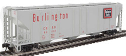 Walthers Mainline HO 910-7466 50' Pullman-Standard PS-2 CD 4427 3-Bay Covered Hopper Chicago, Burlington & Quincy CB&Q #85632