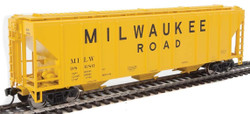 Walthers Mainline HO 910-7468 50' Pullman-Standard PS-2 CD 4427 3-Bay Covered Hopper Milwaukee Road MILW #98680