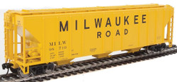 Walthers Mainline HO 910-7469 50' Pullman-Standard PS-2 CD 4427 3-Bay Covered Hopper Milwaukee Road MILW #98710
