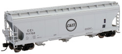 Intermountain N 67079-04 ACF 4650 3 Bay Covered Hopper Chicago & Eastern Illinois CEI #717750