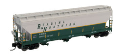 Intermountain N 67083-01 ACF 4650 3 Bay Covered Hopper Reading Blue Mountain & Northern RBMN #9963
