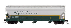 Intermountain N 67083-02 ACF 4650 3 Bay Covered Hopper Reading Blue Mountain & Northern RBMN #9966