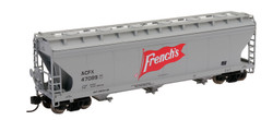 Intermountain N 67085-02 ACF 4650 3 Bay Covered Hopper French's ACFX #47102