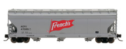 Intermountain N 67085-04 ACF 4650 3 Bay Covered Hopper French's ACFX #47105