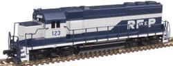 Atlas Master N 40004174 Gold Series EMD GP40 DCC/ESU LokSound Richmond Fredericksburg and Potomac Railroad 'Early with White Frame' RF&P #123