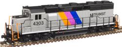 Atlas Master N 40004178 Gold Series EMD GP40 DCC/ESU LokSound New Jersey Transit NJT #4301