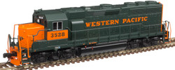 Atlas Master N 40004186 Gold Series EMD GP40 DCC/ESU LokSound Western Pacific WP #3523