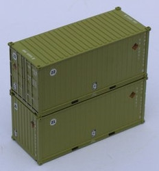 Jacksonville Terminal Company N 205456 20' Standard Height Corrugated Side Containers USMC Marines 2 pack