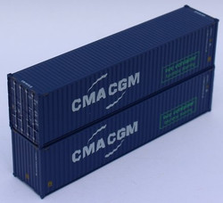 Jacksonville Terminal Company N 405067 40' High Cube Corrugated Side Containers CMA CGM 'Eco bamboo flooring' - 2 pack