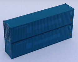 Jacksonville Terminal Company N 405177 40' High Cube Corrugated Side Containers FLORENS – ex-Hanjin - 2 pack